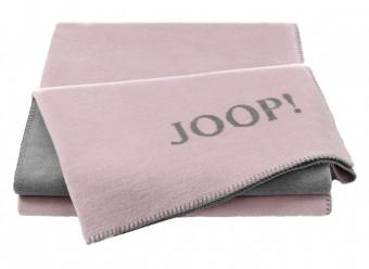 Joop!-Plaid-Uni-Doubleface-rose-graphit