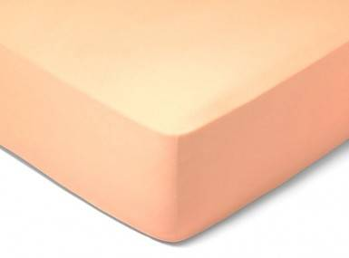 Vorschaubild schlossberg spannbettlaken satin abricot